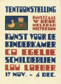 Poster design for the exhibition 'Kunst voor de Kinderkamer', 1934