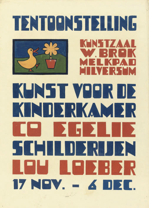 Poster design for the exhibition 'Kunst voor de Kinderkamer', 1934