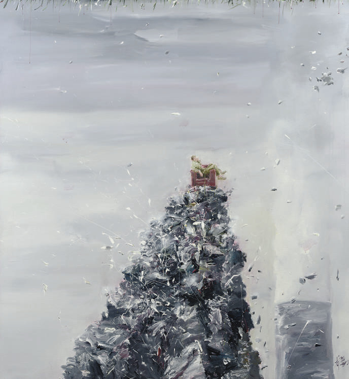 Man in a chair on a pile