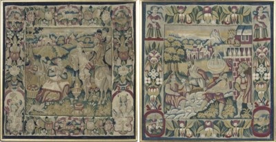 TWO FLEMISH BIBLICAL TAPESTRY