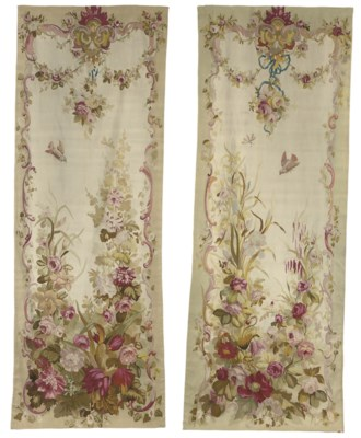 A PAIR OF FRENCH SAVONNERIE EN