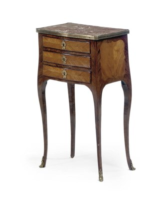 A LOUIS XV ROSEWOOD AND TULIPW