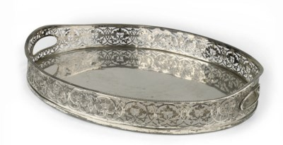 A Continental silver tray