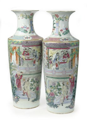A pair of Chinese famille rose