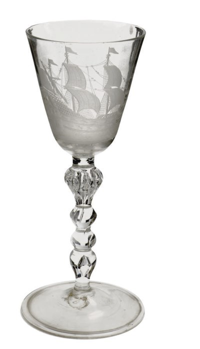 A Dutch-engraved light-baluste