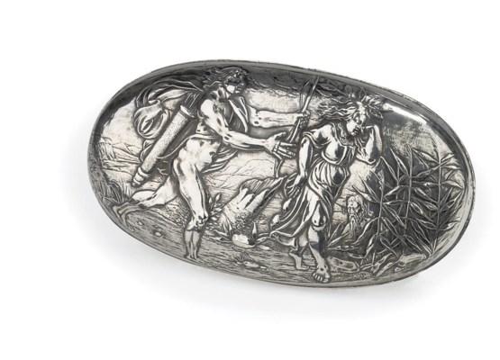 A Dutch silver brush mount