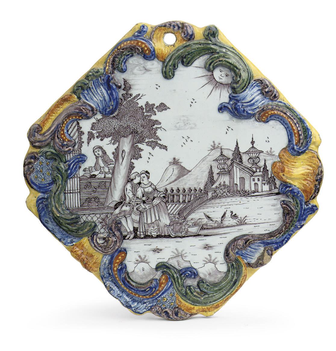 A Dutch Delft ogival mixed tec