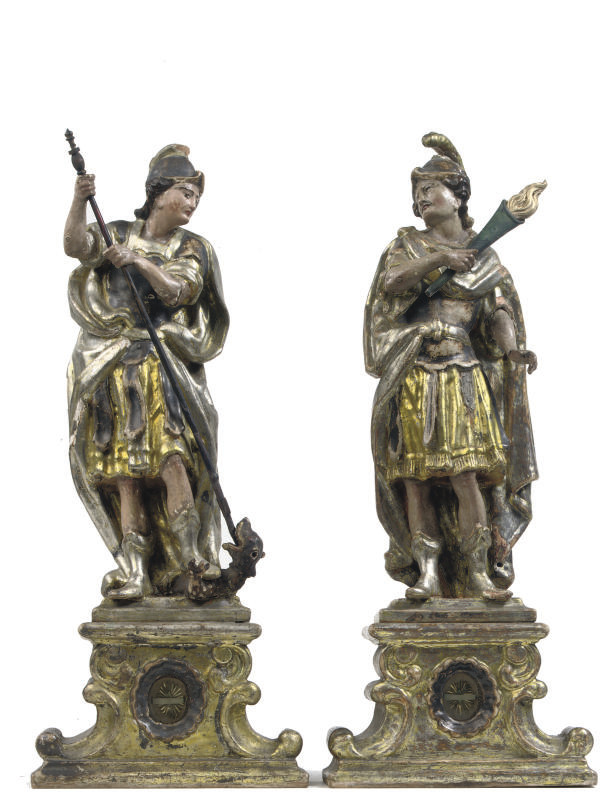 A PAIR OF POLYCHROME AND VARNI