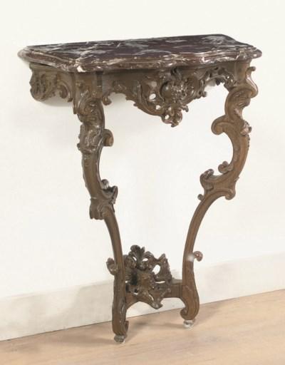 A GERMAN OAK CONSOLE TABLE