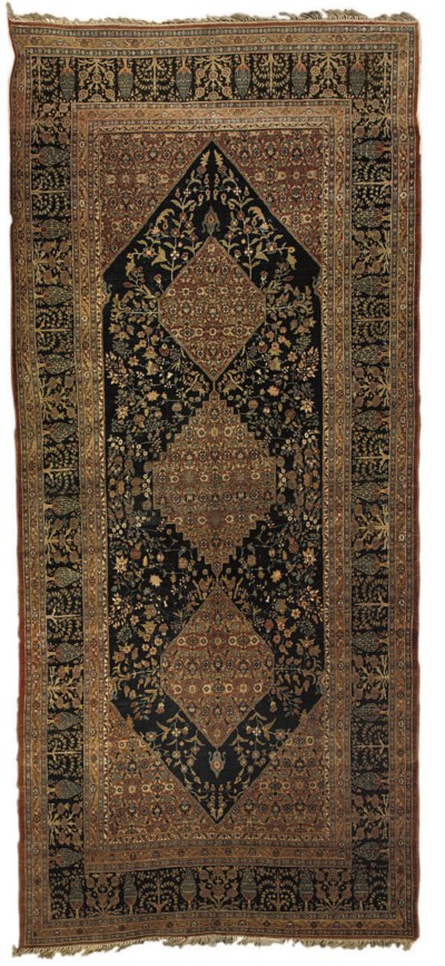 A TABRIZ GALLERY CARPET