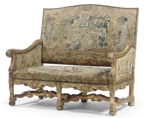 A FRENCH GILTWOOD CANAPE