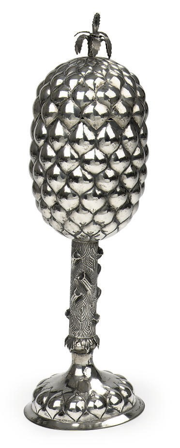A German silver pineapple cup