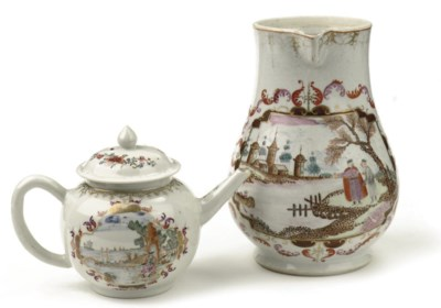 A Chinese famille rose Meissen
