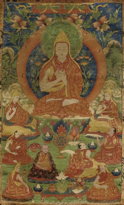 A Tibetan Thang.ka depicting T