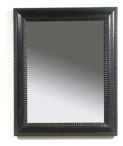 A SOUTH GERMAN EBONY MIRROR