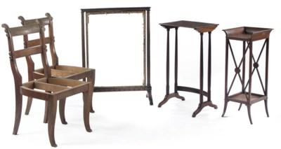 TWO GERMAN MAHOGANY SIDE TABLE