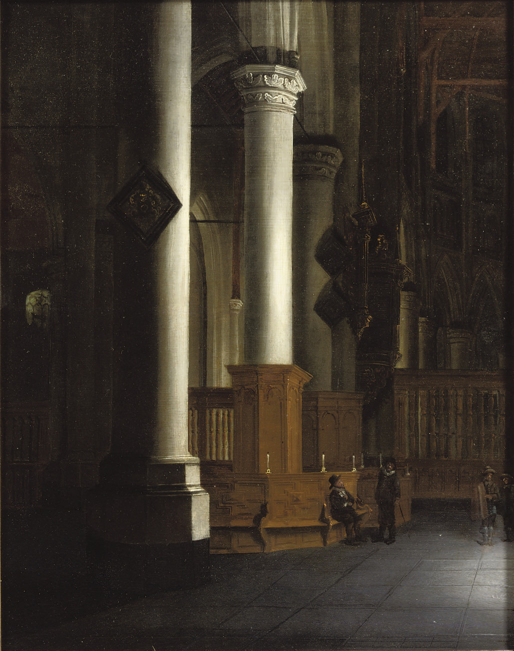 The interior of the 'Laurenskerk', Rotterdam