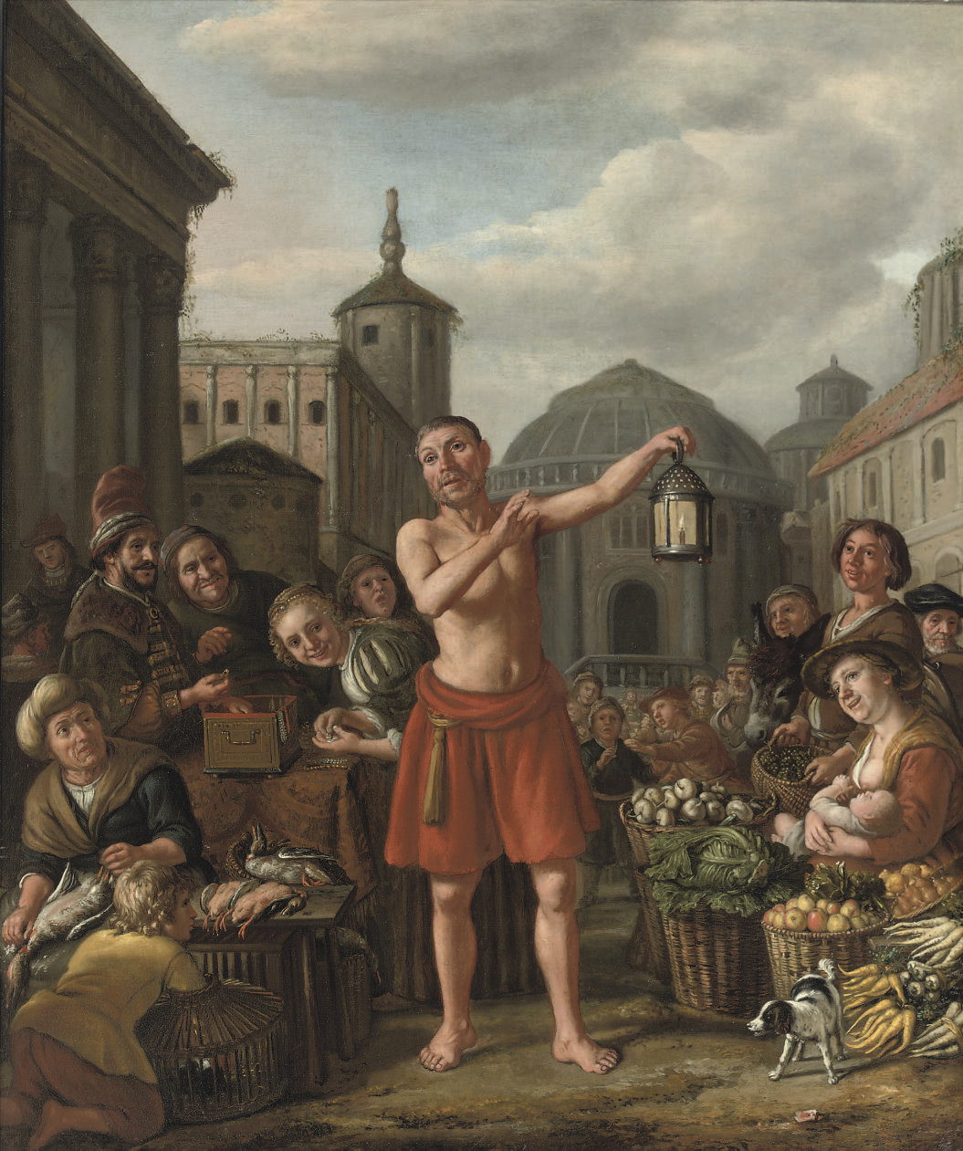 Diogenes searching for an Honest Man