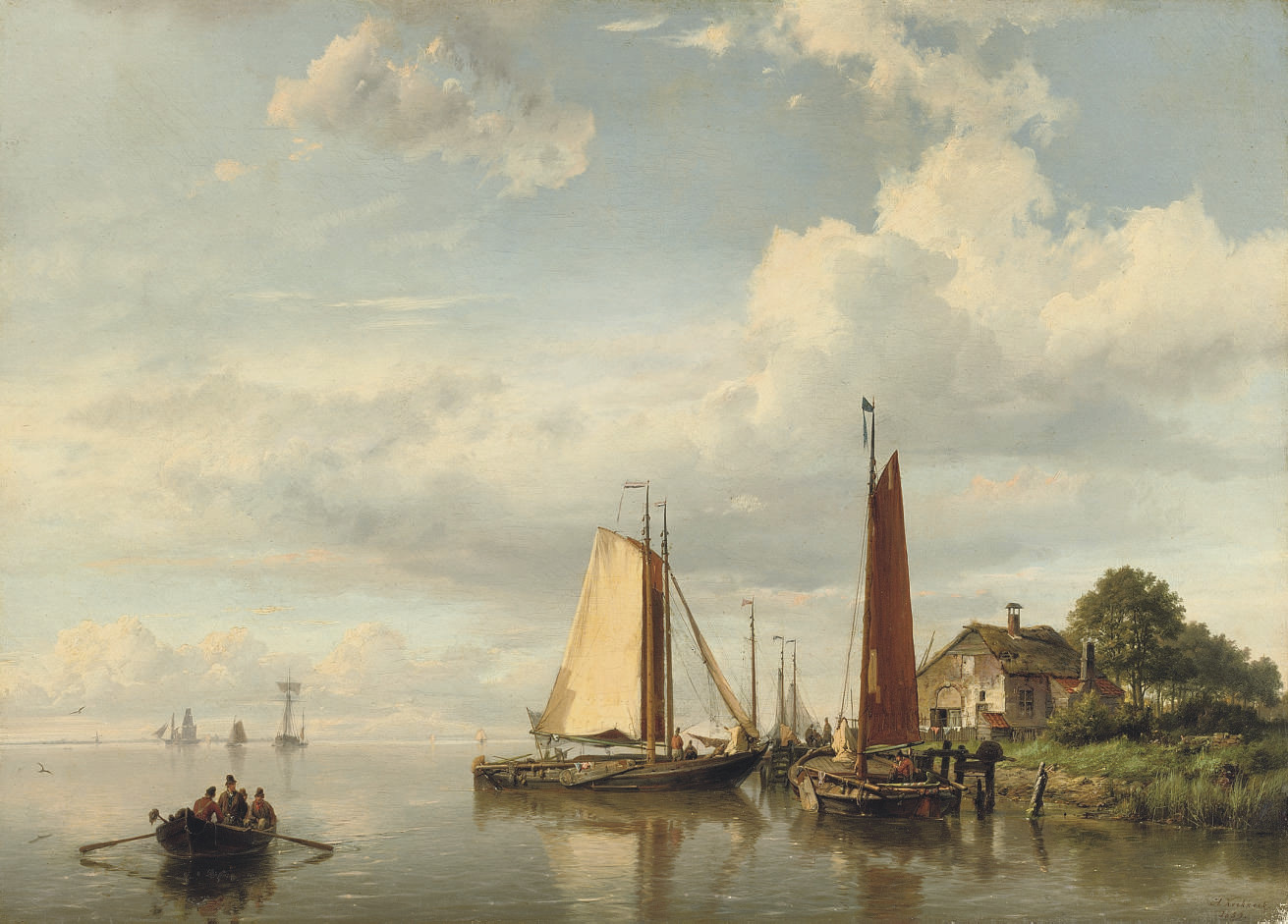 Moored sailing vessels