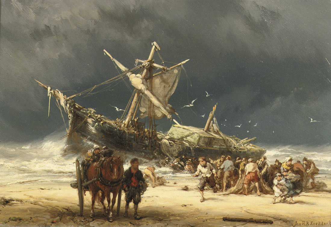 After the storm, near the coast of Texel