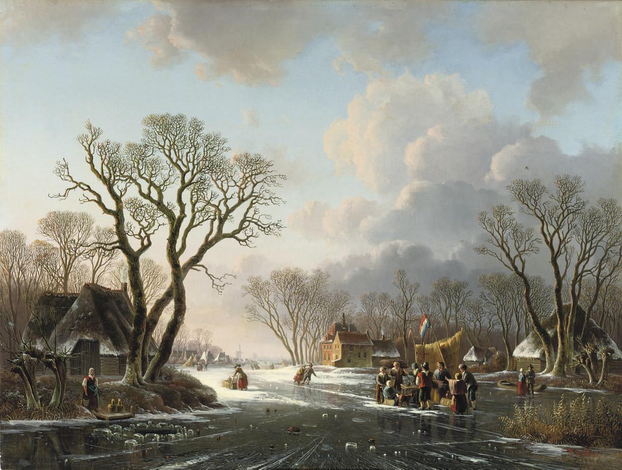 Gathering by a koek-en-zopie on a winter's day