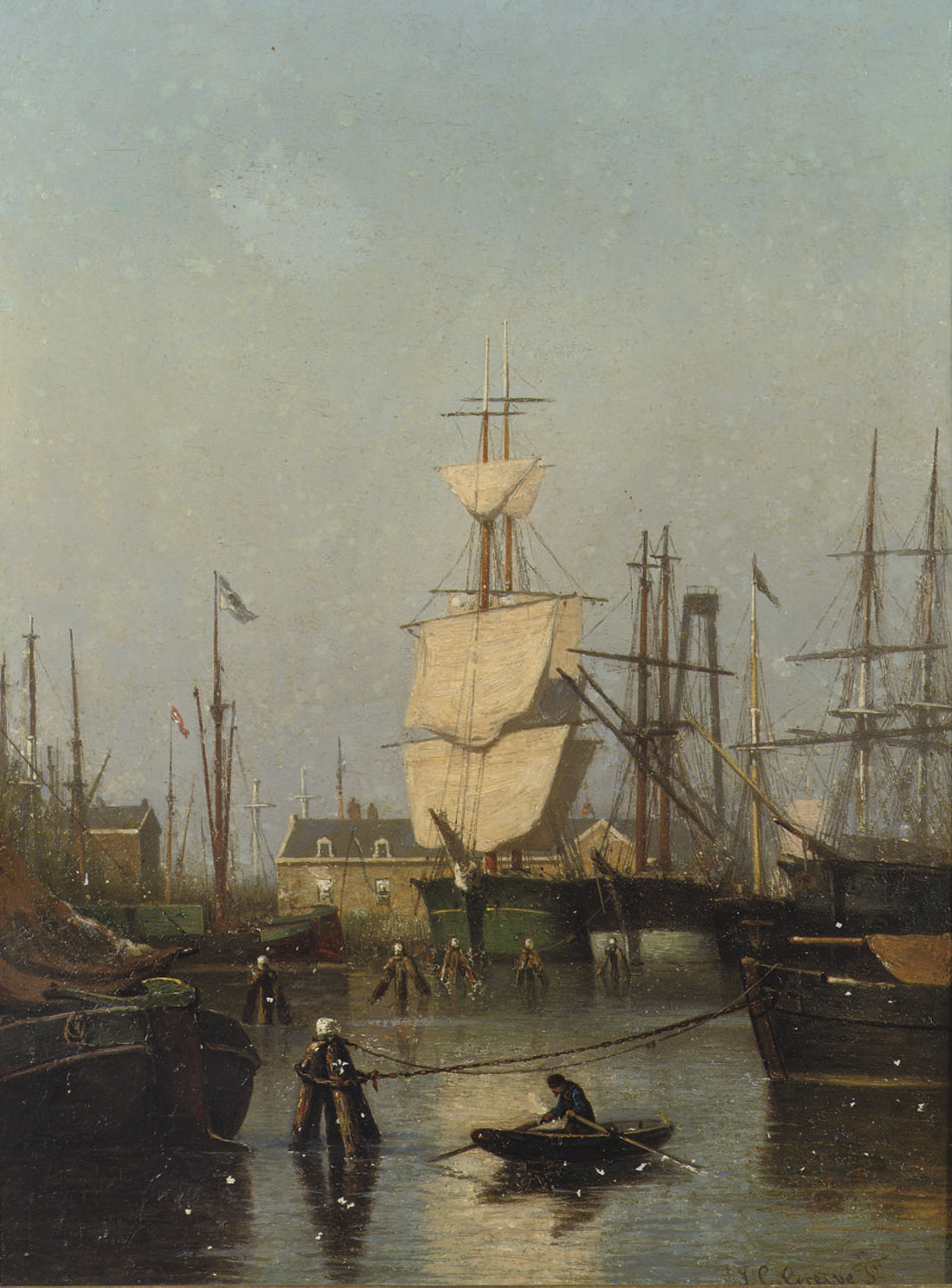Oosterpark, Amsterdam: shipping in Amsterdam harbour