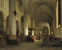 A sunlit church interior