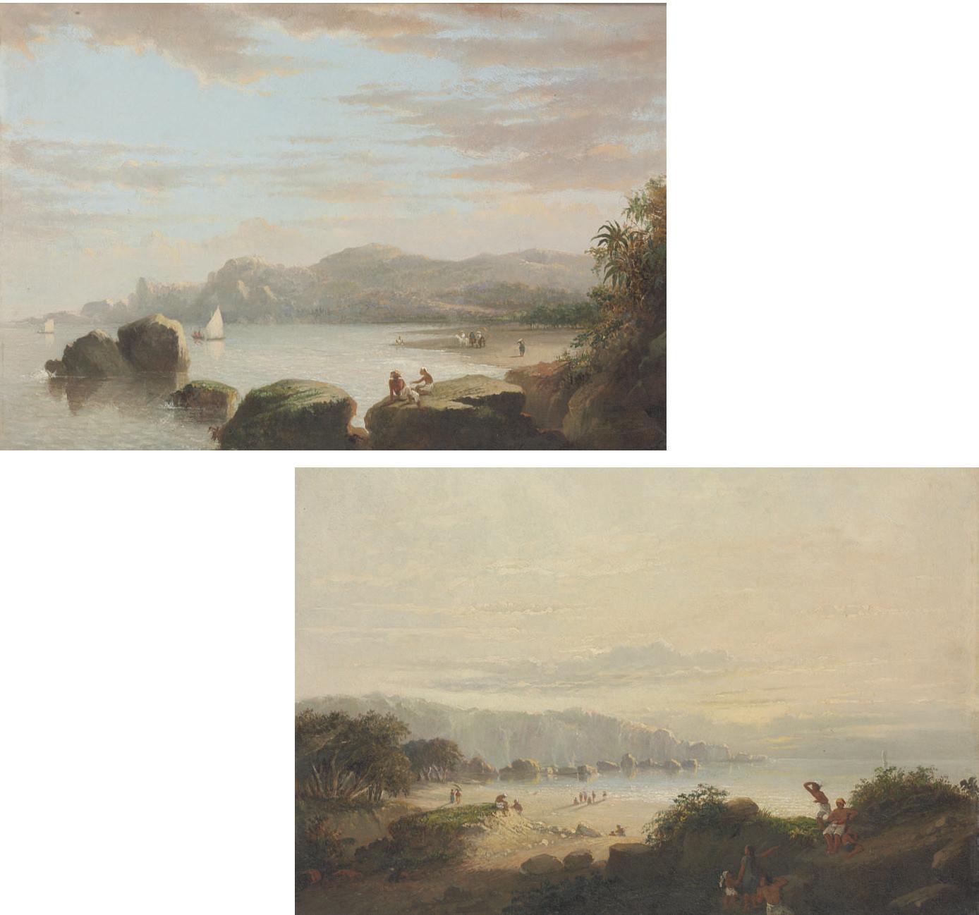 The bay of Srigonjo, Java; and the Northcoast of Java near the residence Japaro