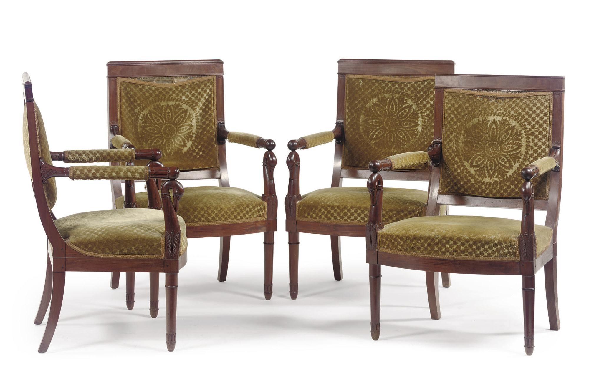 A SET OF FOUR DUTCH MAHOGANY F