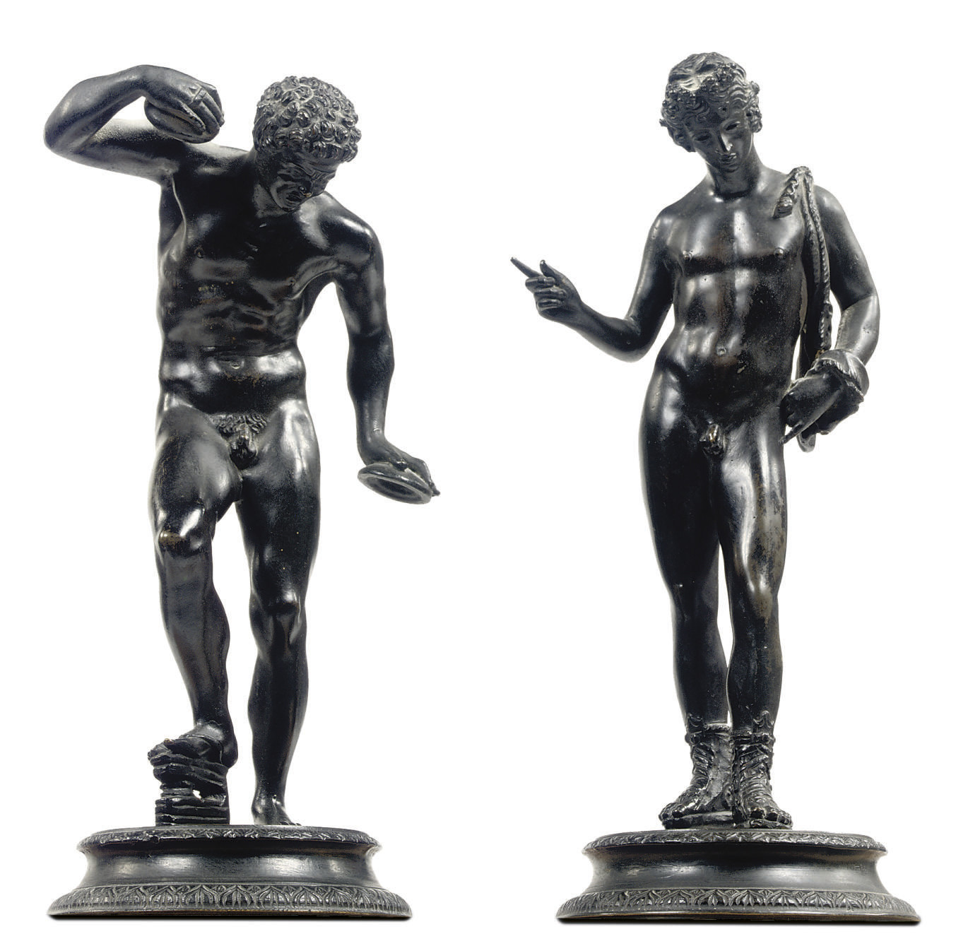 A BRONZE FIGURE OF THE FAUN WI