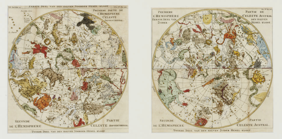 A PAIR OF CELESTIAL MAPS 'NOOR