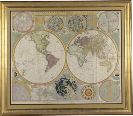 DUNN, SAMUAL, A LARGE WALL MAP