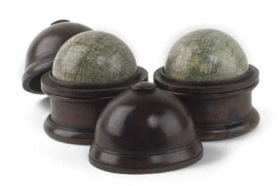 A PAIR OF ENGLISH 3-INCH GLOBE