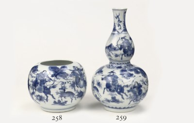 A Chinese Transitional blue an