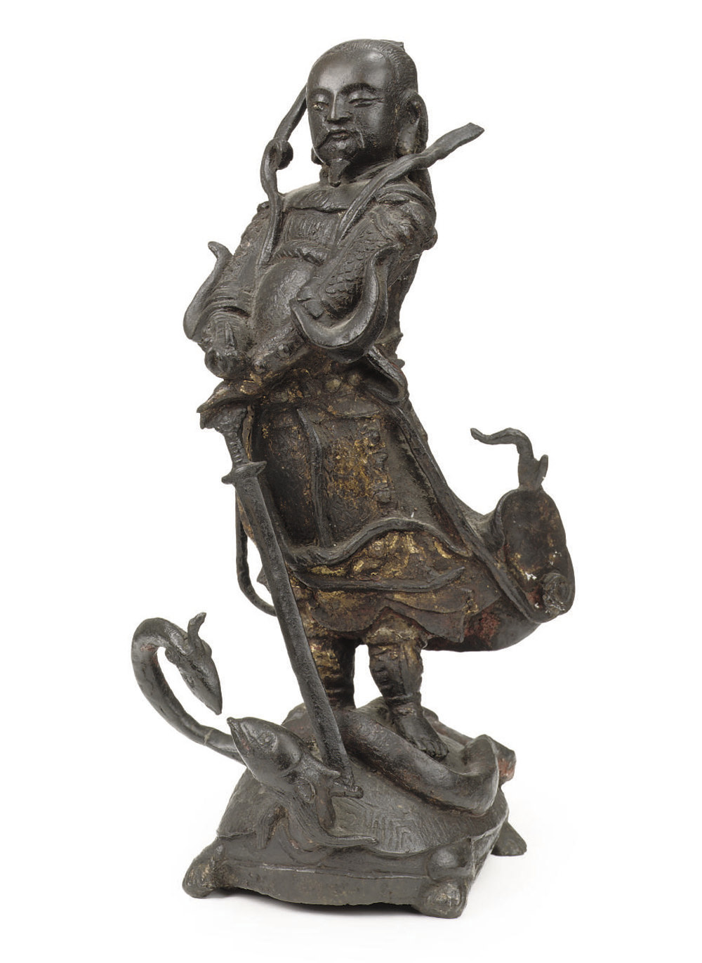 A Chinese bronze figure of the