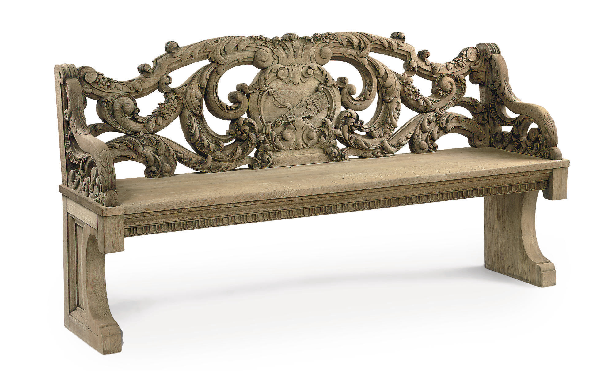 A DUTCH OAK BENCH