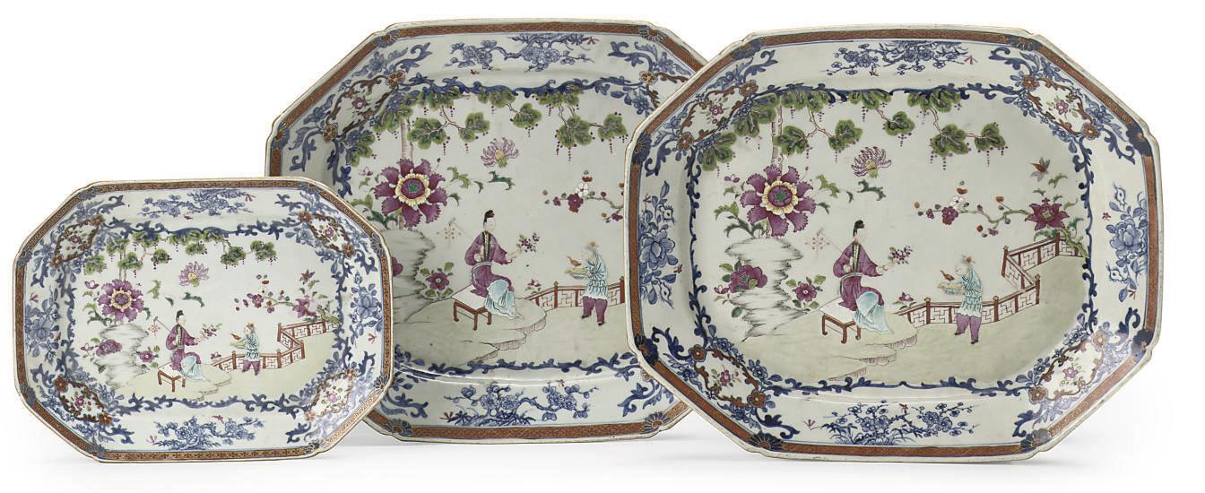 A set of three Chinese undergl
