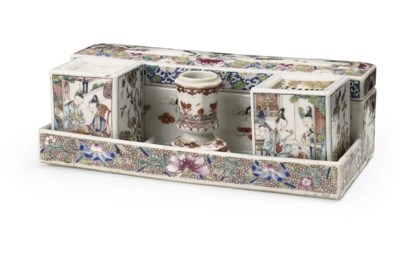 A Chinese famille rose desk se
