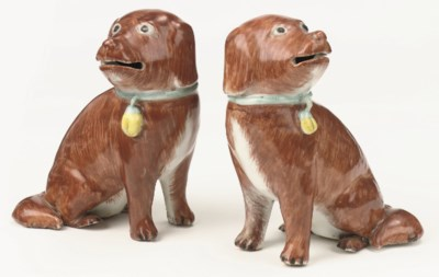 A pair of Chinese Export iron-
