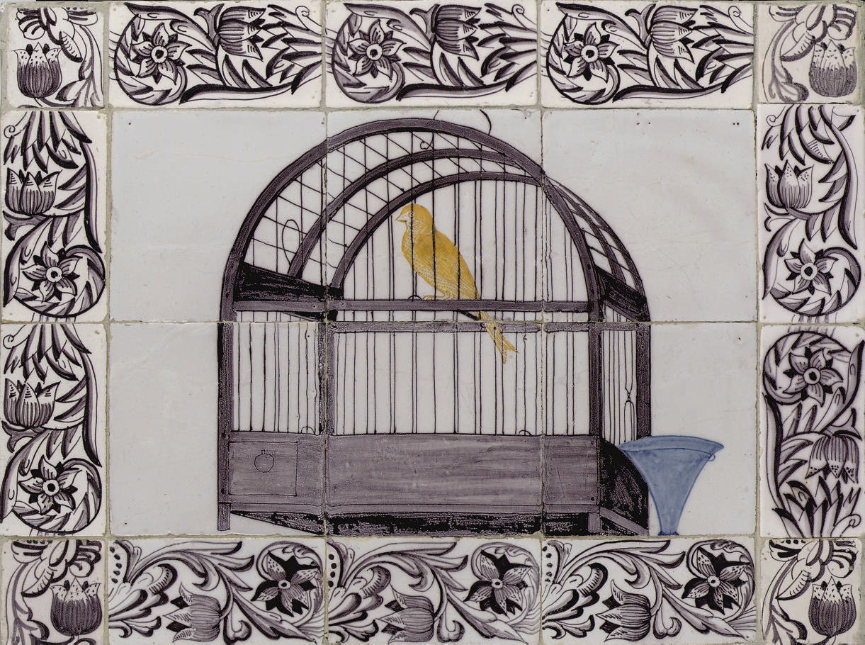 A Dutch 'canary cage' tile pic