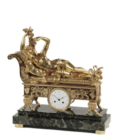 AN EMPIRE ORMOLU AND VERDE-ANT