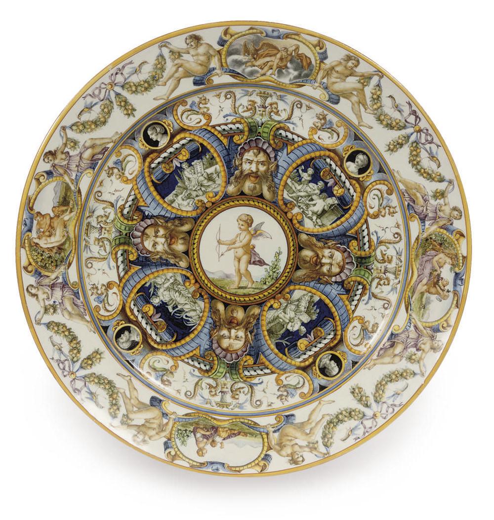 A large Ginori maiolica istori
