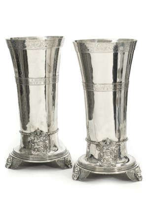 A pair of massive silver 'Hist