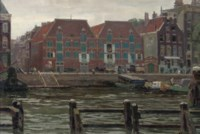 A view of the Prins Hendrikkade, Amsterdam