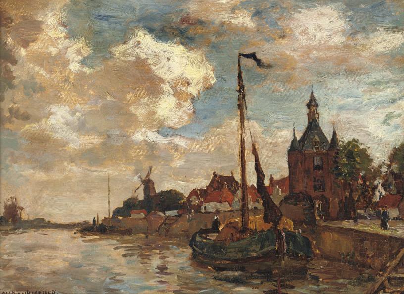 The harbour of Hoorn with the Hoofdtoren