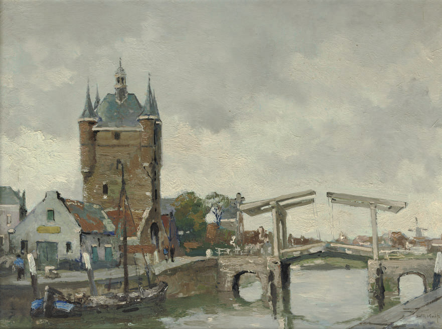 The Zuidhavenpoort on a summer's day, Zierikzee