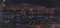 The Harbour of Rotterdam by night