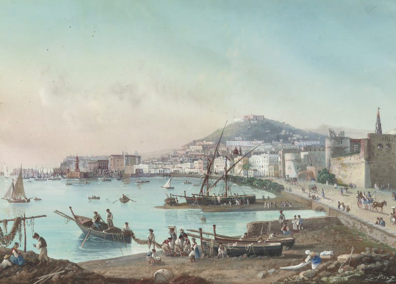 A view of the bay of Naples, Italy