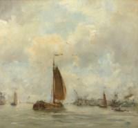 Sailing vessels near the harbour entrance