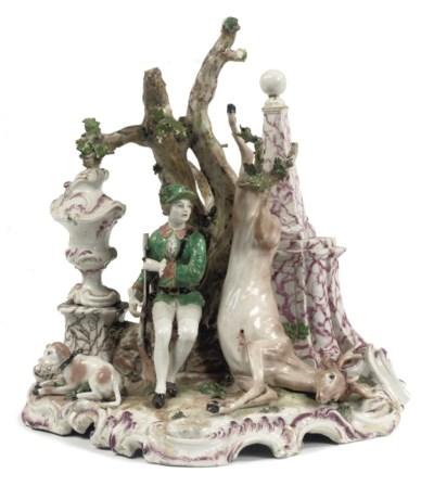 A Ludwigsburg 'hunting' figure